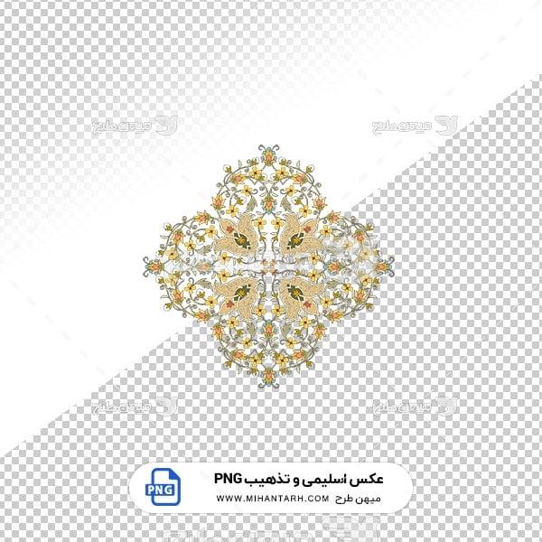 عکس برش خورده اسلیمی و تذهیب طرح گل قالی