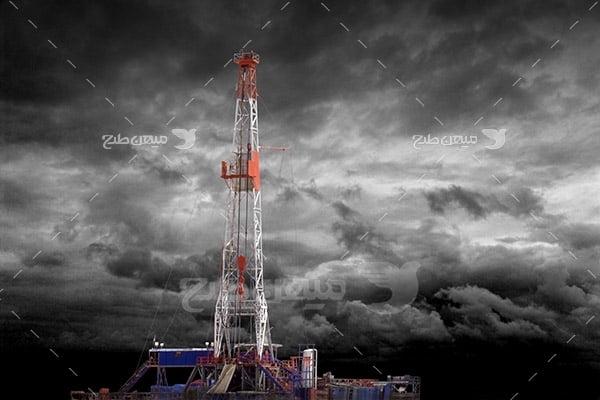 عکس صنعتی دکل نفتی