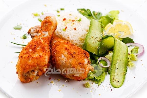 عکس تبلیغاتی غذا چلو مرغ