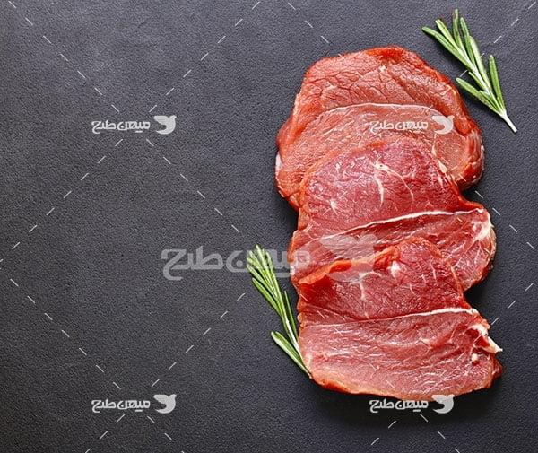عکس گوشت استیکی