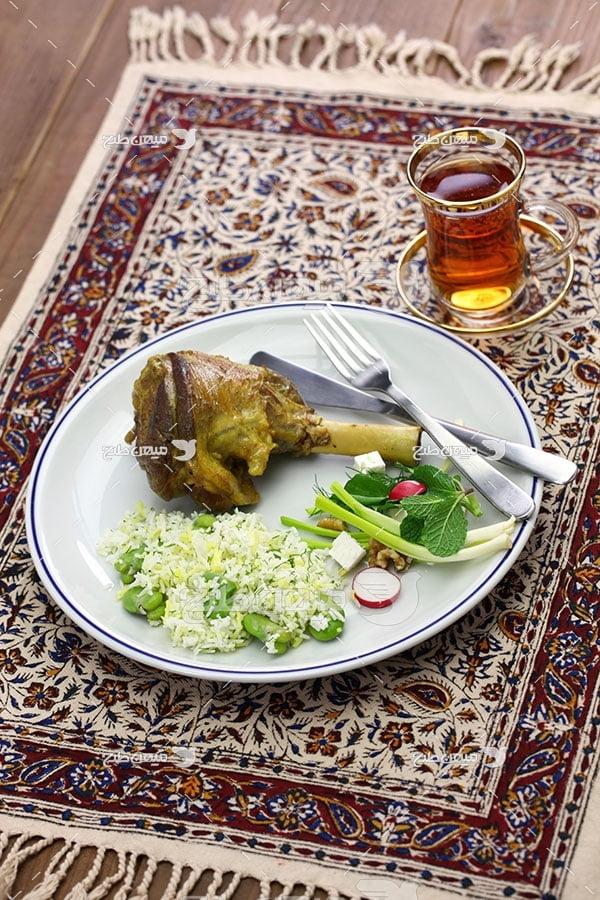 عکس باقالی پلو ایرانی