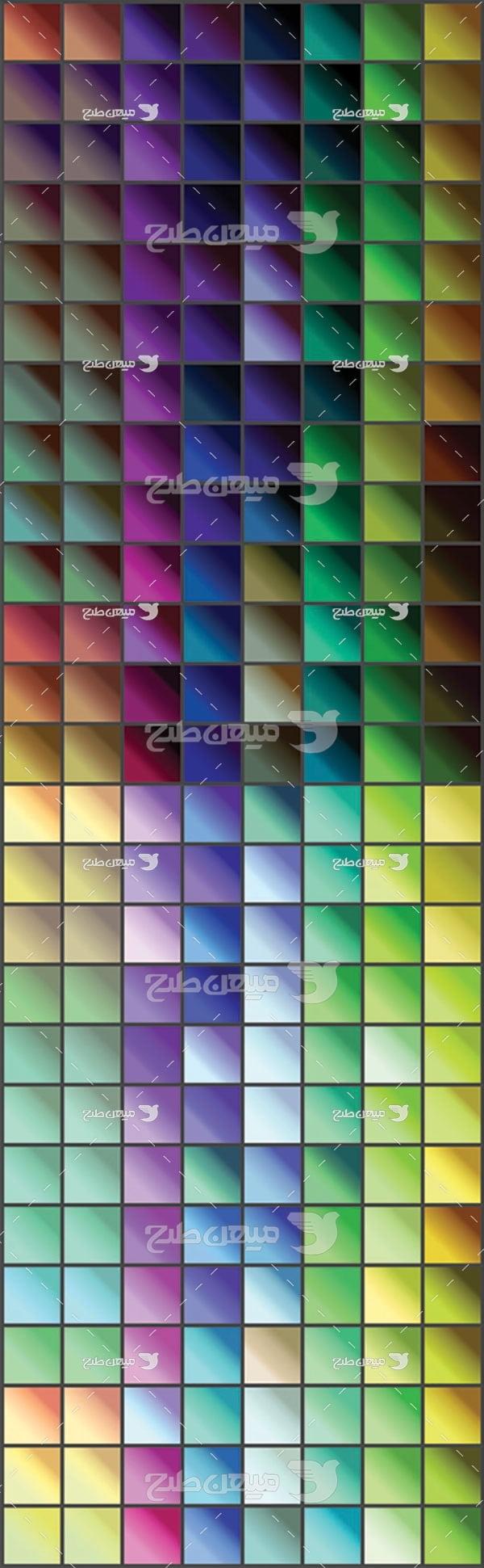 مجموعه ابزارهای فتوشاپ گرادینت طیف رنگها مورب