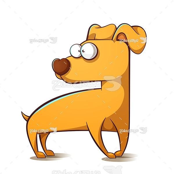 وکتور سگ قهوه ای