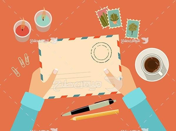 وکتور نوشتن نامه