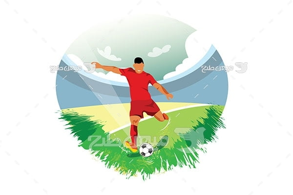 وکتور بازی فوتبال