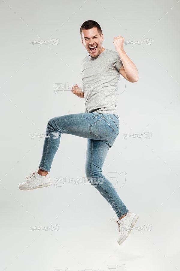 عکس مرد خوشحال