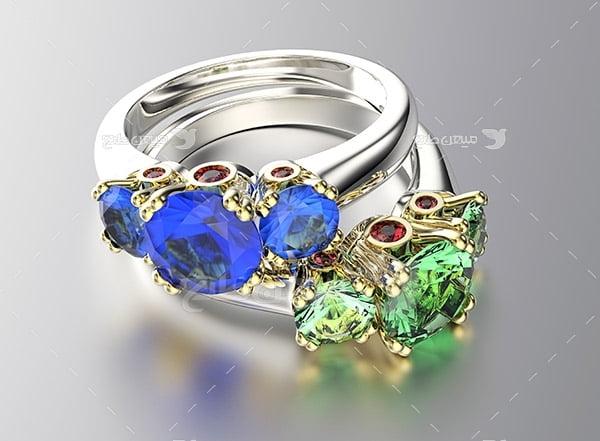 عکس انگشتر الماس رنگی