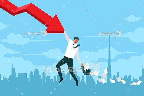 وکتور سقوط سهام