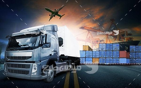 عکس تبلیغاتی حمل و نقل آبی خاکی