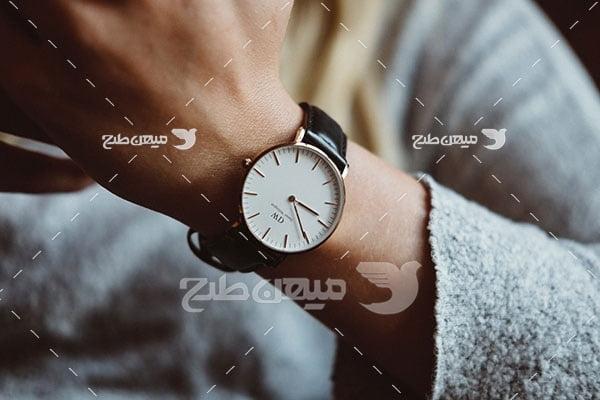 عکس ساعت مردانه بند چرمی