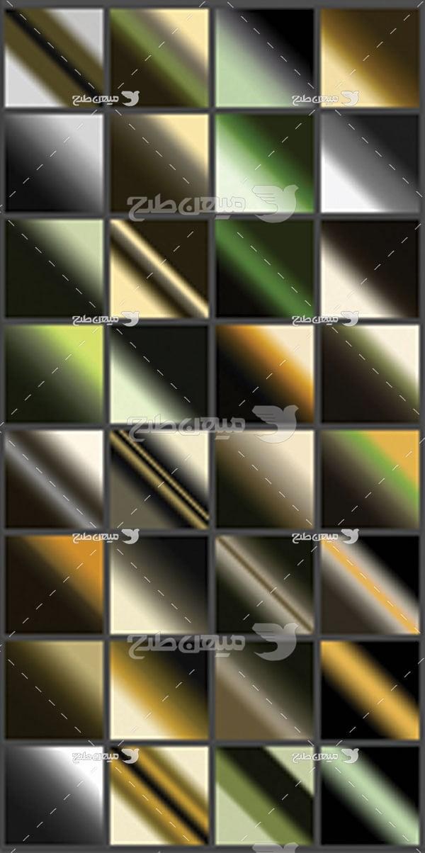 مجموعه ابزارهای فتوشاپ گرادینت ترکیب رنگ تیره