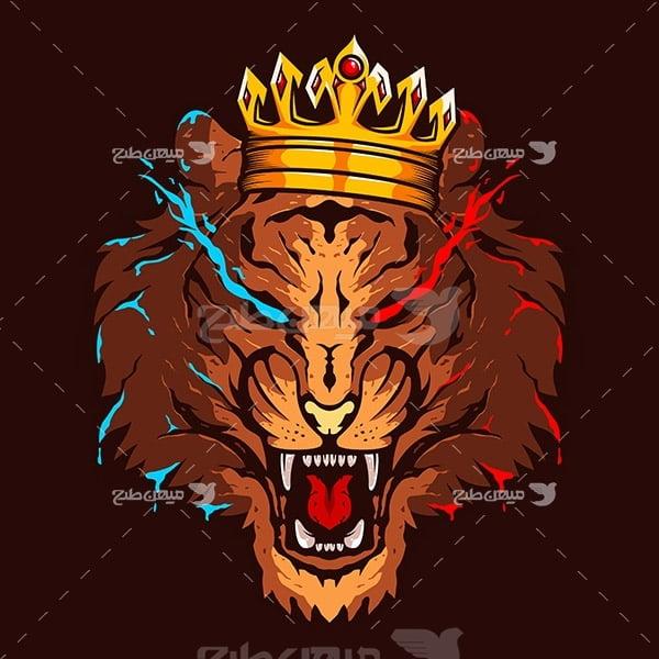 وکتور لوگو شیر شاه