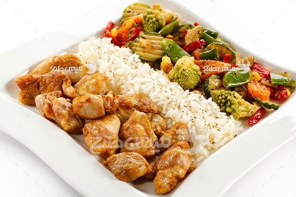 عکس تبلیغاتی غذا کباب مرغ
