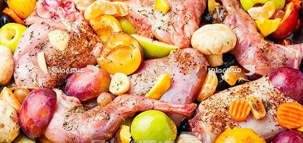 عکس خوراک گوشت و مرغ