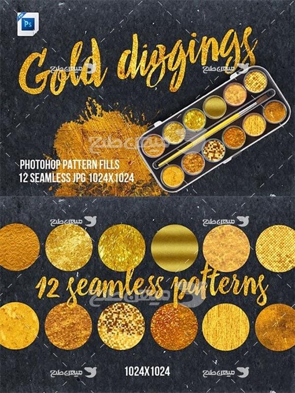 مجموعه ابزارهای فتوشاپ پترن طلایی