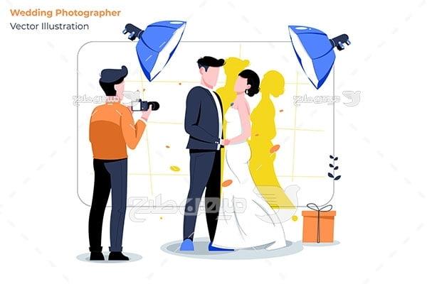 وکتور آتلیه عکس عروس