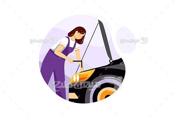 وکتور تعمیرکار اتومبیل