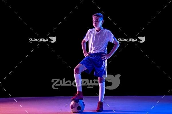 عکس بازیکن فوتبال نوجوان