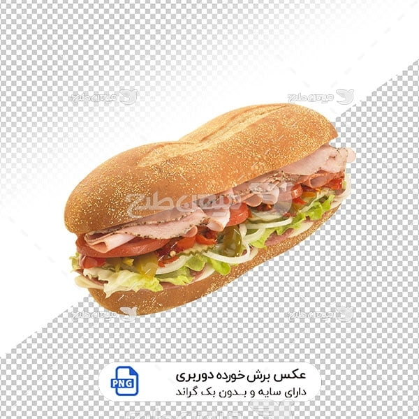 عکس برش خورده ساندویچ کالباس