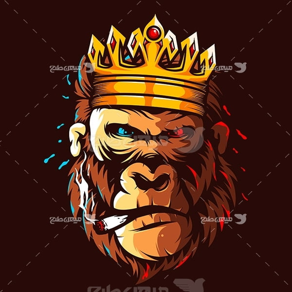 وکتور لوگو میمون شاه