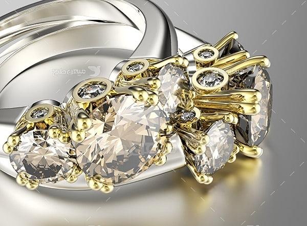 عکس انگشتر الماس عروس