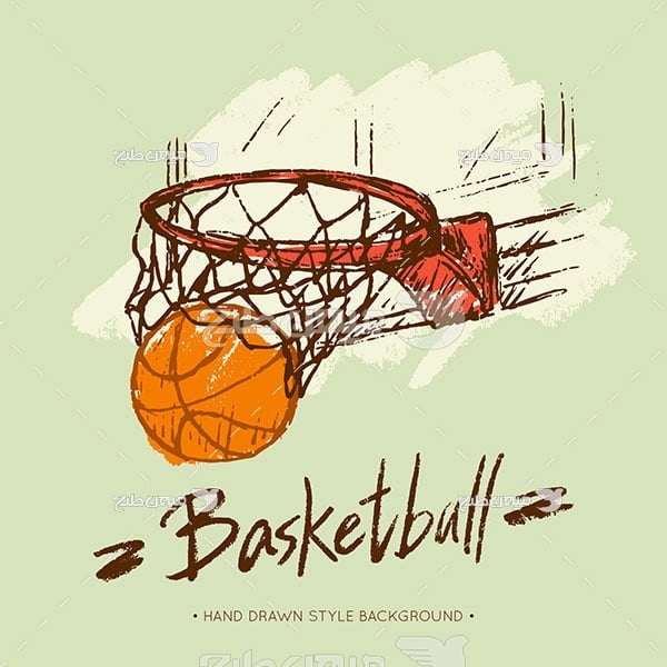 وکتور سبد بسکتبال