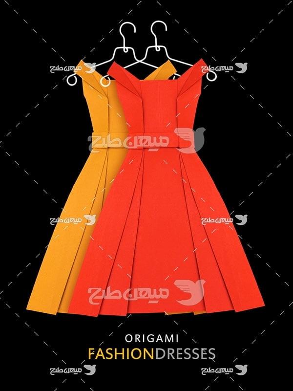 عکس تبلیغاتی مد لباس قرمز و زرد زنانه