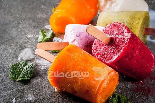 عکس بستنی با طعم میوه