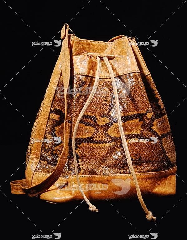 عکس تبلیغاتی مد کیف زنانه چرم طبیعی