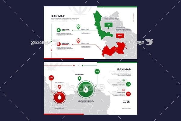 وکتور نقشه جغرافیایی ایران