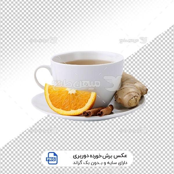 عکس برش خورده فنجان چای زنجبیل