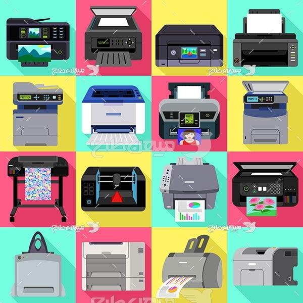 وکتور انواع  دستگاه چاپ