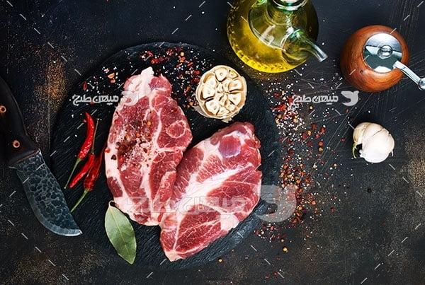 عکس استیک گوشت قرمز
