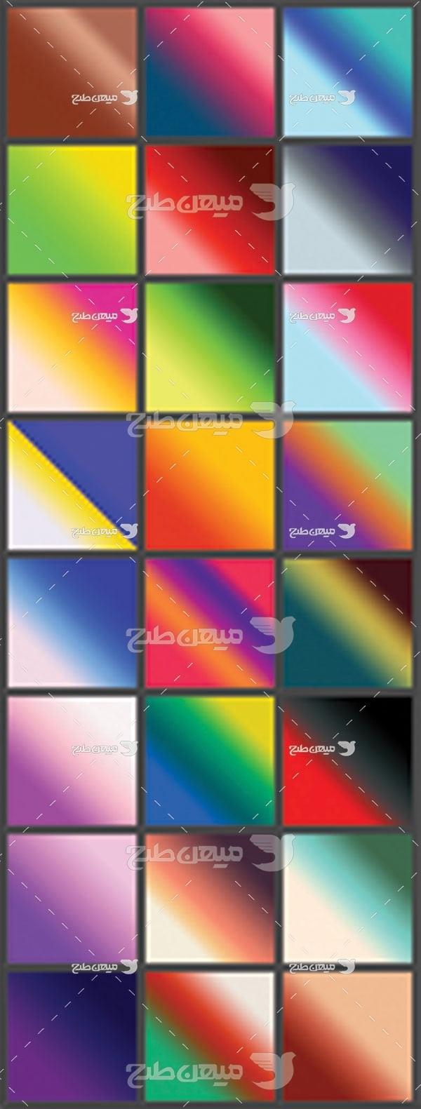 مجموعه ابزارهای فتوشاپ گرادینت طیف رنگ های شاد