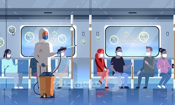 وکتور ضدعفونی کردن مترو