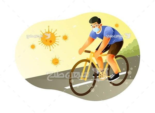 وکتور دوچرخه سواری