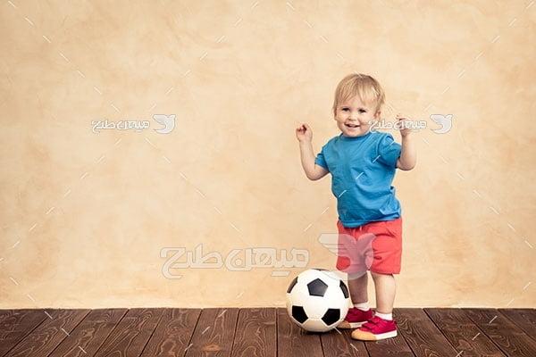 عکس کودک فوتبالیست