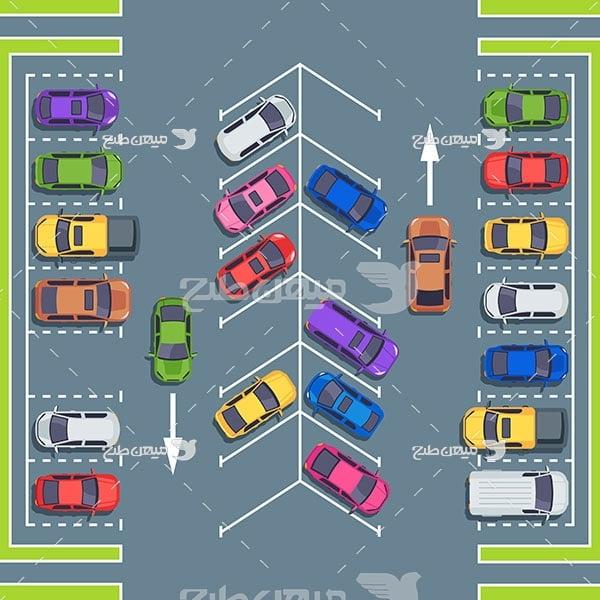 وکتور پارک کردن ماشین