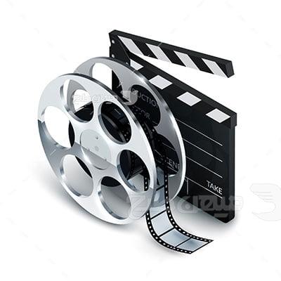 وکتور کاراکتر سینماکلاکد فیلمبرداری