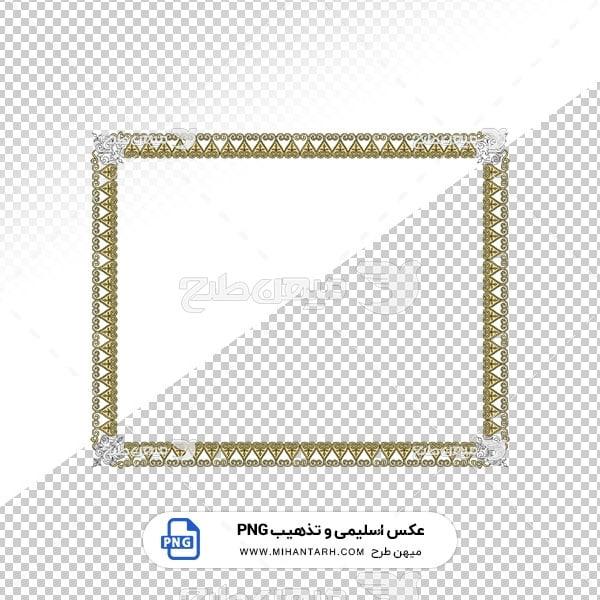 عکس برش خورده اسلیمی و تذهیب قاب با حاشیه مثلثی شکل