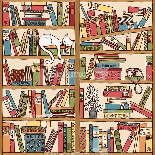 وکتور کاراکتربک گراند کتابخانه