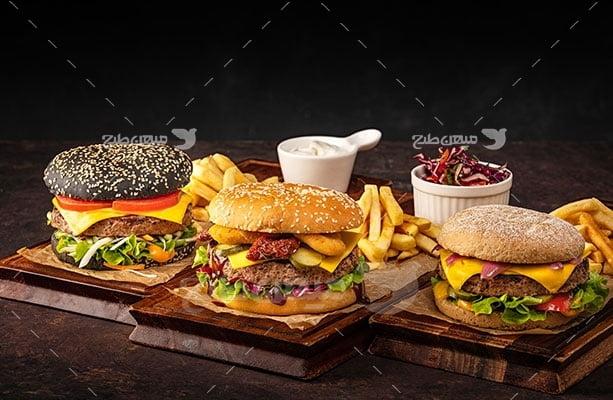 عکس تبلیغاتی غذا همبرگر مخصوص