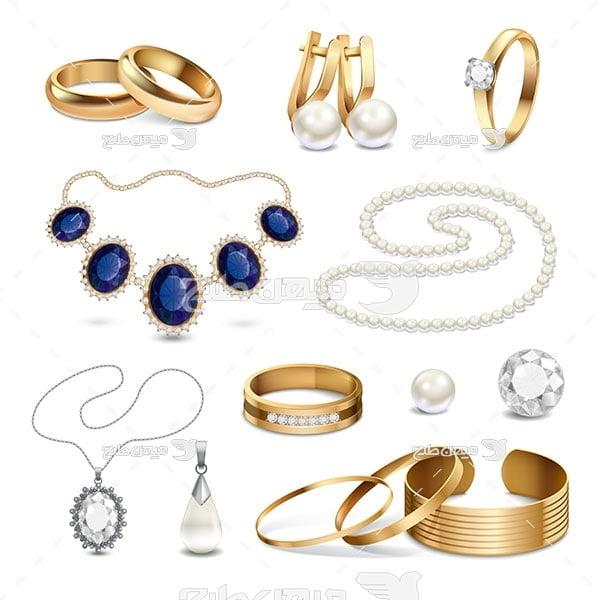 وکتور کاراکتر جواهرات عروس