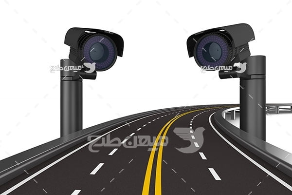 عکس دوربین کنترل سرعت جاده ای