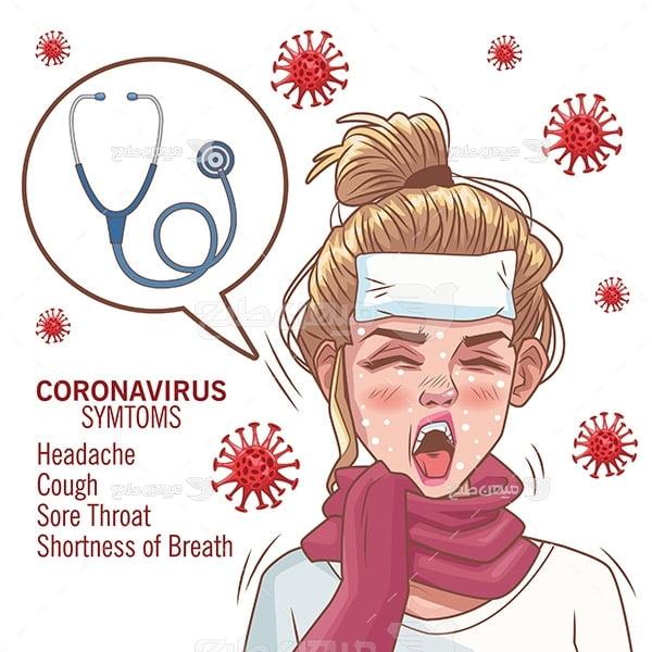 وکتور اعلائم شدید ویروس کرونا