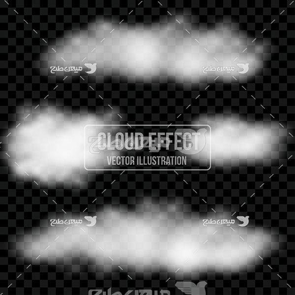 وکتور کاراکتر المان گرافیکی ابر مه آلود