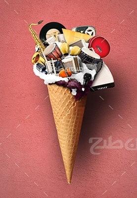 عکس تبلیغاتی موسیقی بستنی