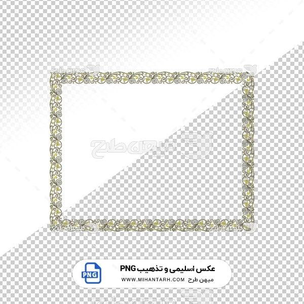 عکس برش خورده اسلیمی و تذهیب قاب حاشیه گلیم فرش