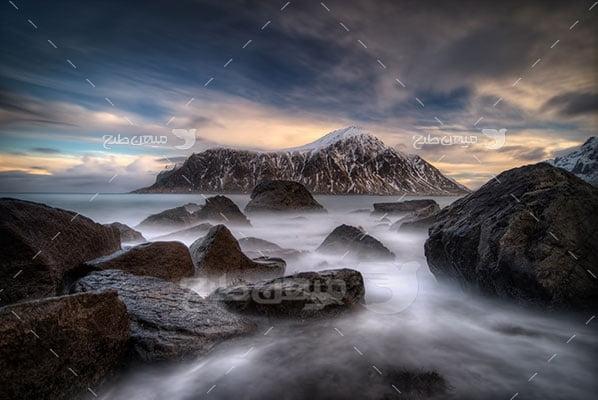 عکس تبلیغاتی طبیعت مه گرفتگی دریا
