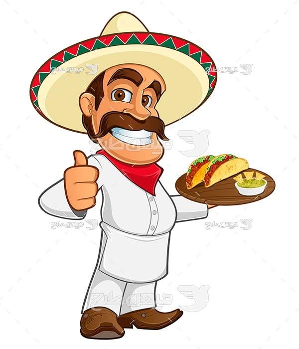 وکتور رستوران مکزیکی